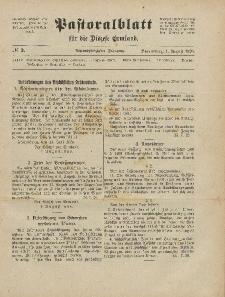 Pastoralblatt für die Diözese Ermland, 58.Jahrgang, 1. August 1926, Nr 8.