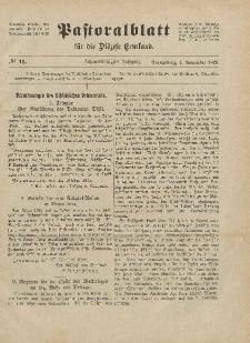 Pastoralblatt für die Diözese Ermland, 58.Jahrgang, 1. November 1926, Nr 11.