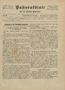 Pastoralblatt für die Diözese Ermland, 58.Jahrgang, 1. Dezember 1926, Nr 12.