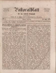 Pastoralblatt für die Diözese Ermland, 5.Jahrgang, 16. April 1873, Nr 8.