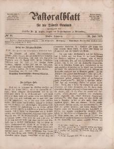 Pastoralblatt für die Diözese Ermland, 5.Jahrgang, 16. Juli 1873, Nr 14.