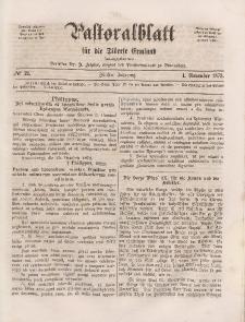 Pastoralblatt für die Diözese Ermland, 5.Jahrgang, 1. November 1873. Nr 21