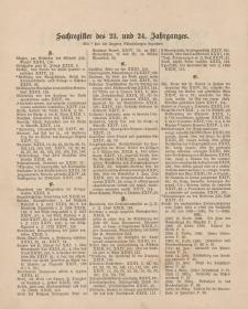 Pastoralblatt für die Diözese Ermland (Sachregister des 23 und 24 Jahrganges)