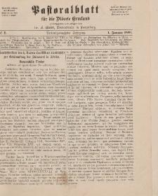 Pastoralblatt für die Diözese Ermland, 23.Jahrgang, 1. Januar 1891. Nr 1