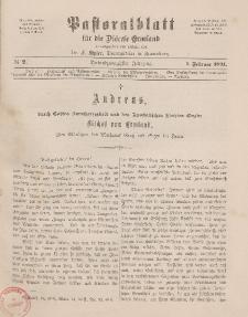 Pastoralblatt für die Diözese Ermland, 23.Jahrgang, 1. Februar 1891. Nr 2