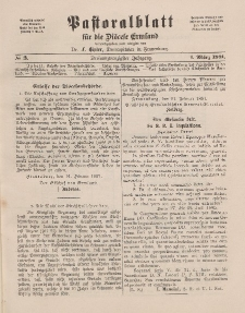 Pastoralblatt für die Diözese Ermland, 23.Jahrgang, 1. März 1891. Nr 3