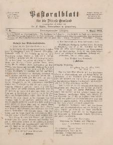 Pastoralblatt für die Diözese Ermland, 23.Jahrgang, 1. April 1891. Nr 4