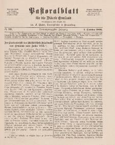Pastoralblatt für die Diözese Ermland, 23.Jahrgang, 1. Dezember 1891. Nr 10