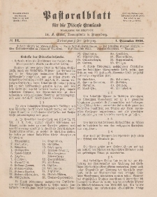 Pastoralblatt für die Diözese Ermland, 23.Jahrgang, 1. Dezember 1891. Nr 12