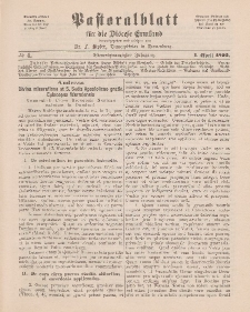 Pastoralblatt für die Diözese Ermland, 24.Jahrgang, 1. April 1892. Nr 4