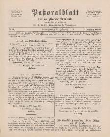 Pastoralblatt für die Diözese Ermland, 24.Jahrgang, 1. August 1892. Nr 8