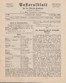 Pastoralblatt für die Diözese Ermland, 24.Jahrgang, 1. Dezember 1892. Nr 12