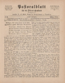 Pastoralblatt für die Diözese Ermland, 10.Jahrgang, 1. März 1878, Nr 3.