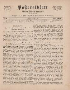 Pastoralblatt für die Diözese Ermland, 10.Jahrgang, 1. April 1878, Nr 4.