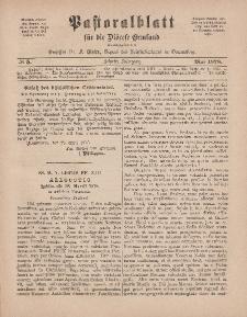 Pastoralblatt für die Diözese Ermland, 10.Jahrgang, 1. Mai 1878, Nr 5.