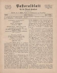 Pastoralblatt für die Diözese Ermland, 10.Jahrgang, 1. Juni 1878, Nr 6.