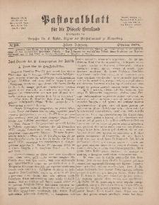 Pastoralblatt für die Diözese Ermland, 10.Jahrgang, 1. Oktober 1878, Nr 10.