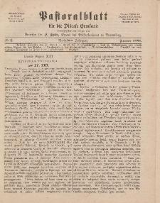 Pastoralblatt für die Diözese Ermland, 13.Jahrgang, Januar 1881, Nr 1.