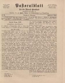 Pastoralblatt für die Diözese Ermland, 13.Jahrgang, Februar 1881, Nr 2.