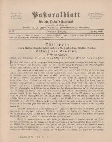 Pastoralblatt für die Diözese Ermland, 13.Jahrgang, März 1881, Nr 3.