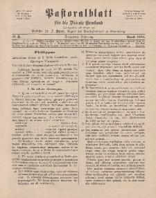 Pastoralblatt für die Diözese Ermland, 13.Jahrgang, April 1881, Nr 4.