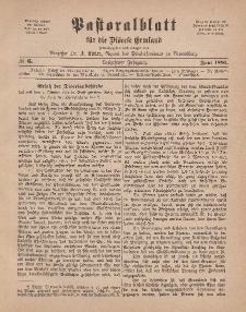 Pastoralblatt für die Diözese Ermland, 13.Jahrgang, Juni 1881, Nr 6.