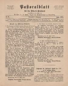 Pastoralblatt für die Diözese Ermland, 13.Jahrgang, Juli 1881, Nr 7.