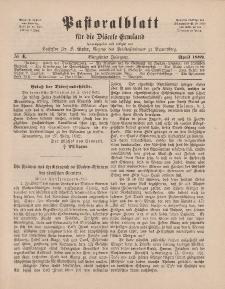 Pastoralblatt für die Diözese Ermland, 14.Jahrgang, April 1882, Nr 4.