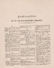 Pastoralblatt für die Diözese Ermland (Sachregister des 21 und 22 Jahrganges)