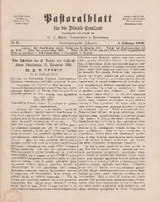 Pastoralblatt für die Diözese Ermland, 21.Jahrgang, 1. Februar 1889, Nr 2.