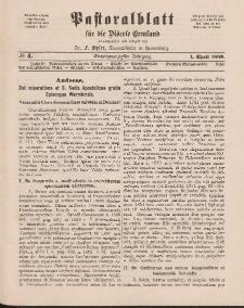 Pastoralblatt für die Diözese Ermland, 21.Jahrgang, 1. April 1889, Nr 4.
