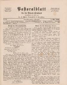Pastoralblatt für die Diözese Ermland, 21.Jahrgang, 1. Mai 1889, Nr 5.