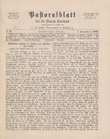 Pastoralblatt für die Diözese Ermland, 21.Jahrgang, 1. September 1889, Nr 9.