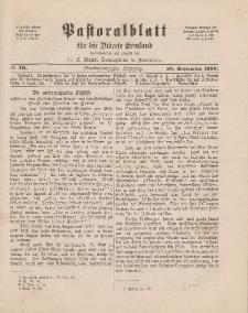 Pastoralblatt für die Diözese Ermland, 21.Jahrgang, 20. September 1889, Nr 10.