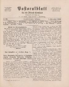 Pastoralblatt für die Diözese Ermland, 21.Jahrgang, 1. Dezember 1889, Nr 12.