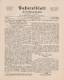 Pastoralblatt für die Diözese Ermland, 22.Jahrgang, 1. Juni 1890, Nr 6.