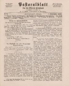 Pastoralblatt für die Diözese Ermland, 22.Jahrgang, 1. September 1890, Nr 9.