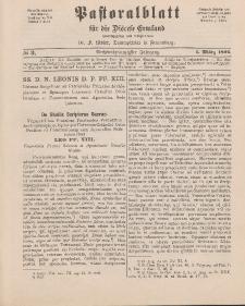 Pastoralblatt für die Diözese Ermland, 26.Jahrgang, 1. März 1894, Nr 3.