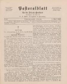Pastoralblatt für die Diözese Ermland, 26.Jahrgang, 1. April 1894, Nr 4.