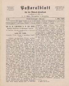 Pastoralblatt für die Diözese Ermland, 26.Jahrgang, 1. Mai 1894, Nr 5.