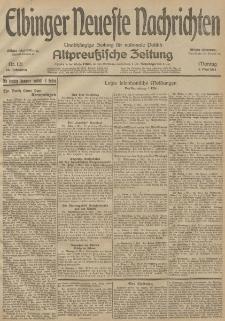 Elbinger Neueste Nachrichten, Nr. 121 Montag 4 Mai 1914 66. Jahrgang