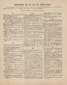 Pastoralblatt für die Diözese Ermland (Sachregister des 29 und 30 Jahrganges)