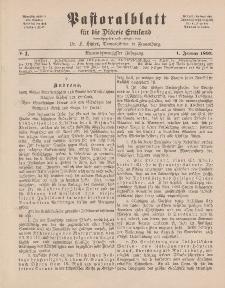 Pastoralblatt für die Diözese Ermland, 29.Jahrgang, 1. Januar 1897, Nr 1.