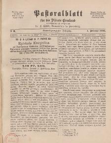 Pastoralblatt für die Diözese Ermland, 29.Jahrgang, 1. Februar 1897, Nr 2.