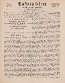 Pastoralblatt für die Diözese Ermland, 29.Jahrgang, 1. September 1897, Nr 9.