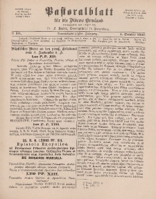 Pastoralblatt für die Diözese Ermland, 29.Jahrgang, 1. Oktober 1897, Nr 10.