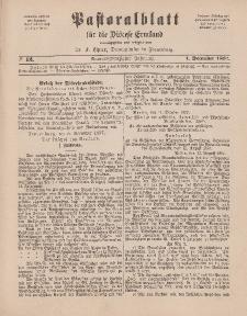 Pastoralblatt für die Diözese Ermland, 29.Jahrgang, 1. Dezember 1897, Nr 12.
