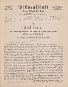 Pastoralblatt für die Diözese Ermland, 30.Jahrgang, 17. Februar 1898, Nr 3.