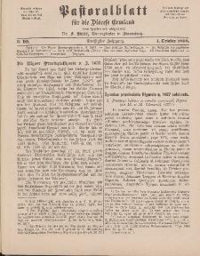 Pastoralblatt für die Diözese Ermland, 30.Jahrgang, 1. Oktober 1898, Nr 10.