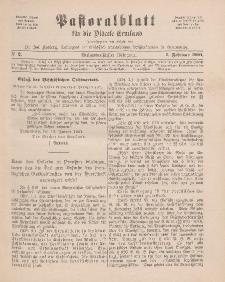 Pastoralblatt für die Diözese Ermland, 33.Jahrgang, 1. Februar 1901, Nr 2.
